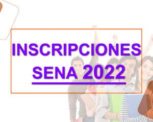 Nuevas convocatorias inscripciones Sena 2022